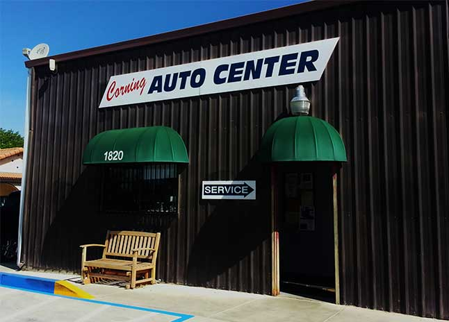 Corning Auto Center, auto repair shop at Corning CA